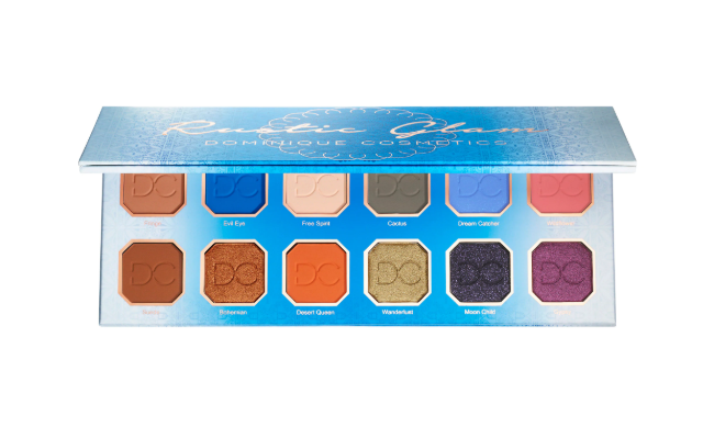 DOMINIQUE COSMETICS RUSTIC GLAM EYESHADOW PALETTE FOR SUMMER 2019 - DOMINIQUE COSMETICS RUSTIC GLAM EYESHADOW PALETTE FOR SUMMER 2019