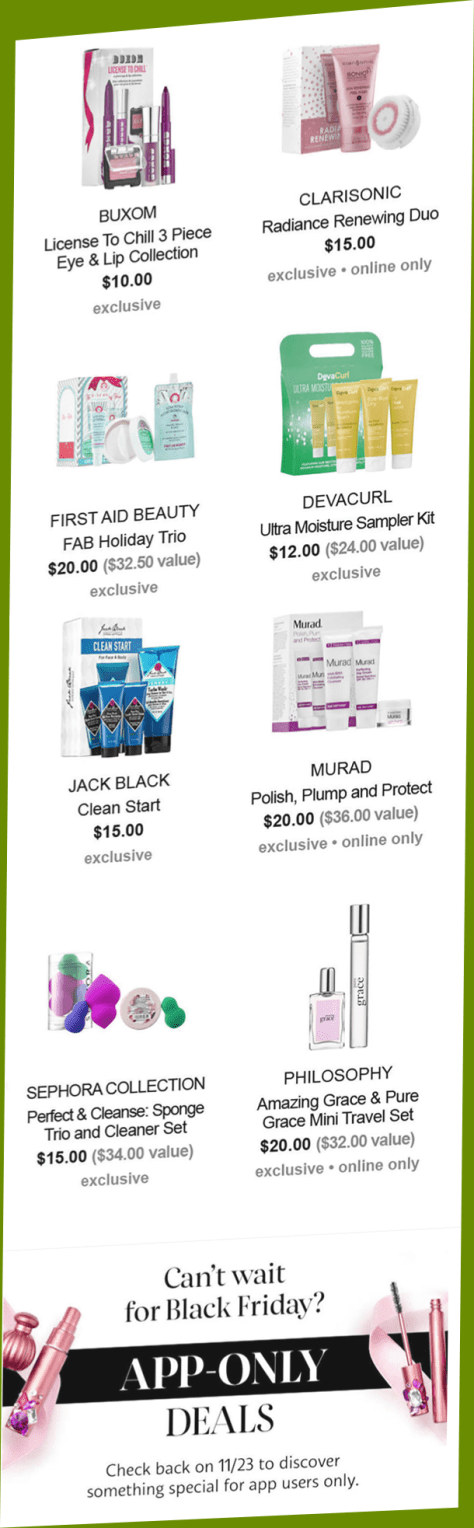 Sephora Black Friday 2016 Flyer Page 5 - Sephora Black Friday 2019 is coming