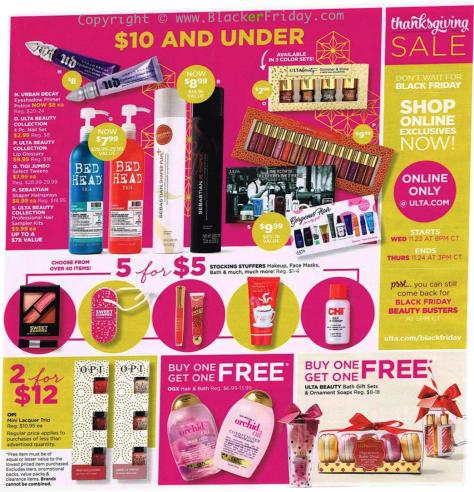 Ulta Black Friday 2016 ad page 3 - Ulta Beauty Black Friday 2019