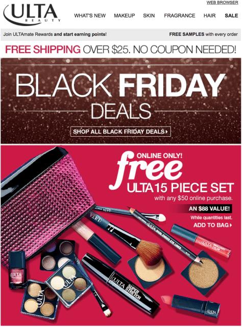 Ulta black friday ad scan page 1 - Ulta Beauty Black Friday 2019