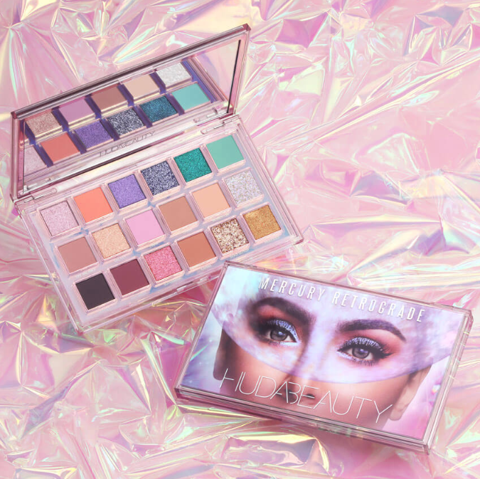 Huda Beauty Mercury Retrograde Eyeshadow Palette For Holiday 2019 2 - HUDA BEAUTY 2019 Christmas Holiday Collection