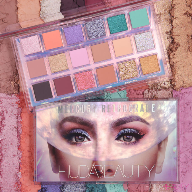 Huda Beauty Mercury Retrograde Eyeshadow Palette For Holiday 2019 - HUDA BEAUTY 2019 Christmas Holiday Collection