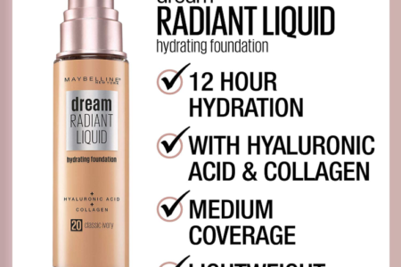 MAYBELLINE DREAM RADIANT LIQUID FOUNDATION OPENS PRE SALE 450x300 - MAYBELLINE DREAM RADIANT LIQUID FOUNDATION OPENS PRE-SALE