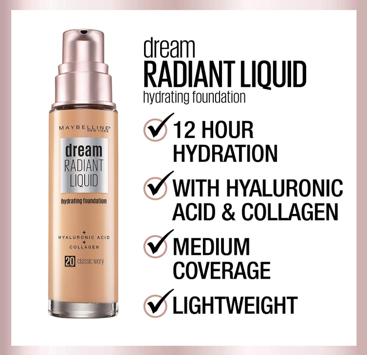 MAYBELLINE DREAM RADIANT LIQUID FOUNDATION OPENS PRE SALE - MAYBELLINE DREAM RADIANT LIQUID FOUNDATION OPENS PRE-SALE