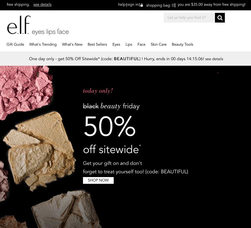 elf Black Friday 2015 Ad Page 1 - e.l.f. Cosmetics Black Friday 2019