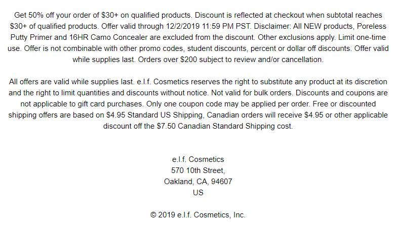 elf Cosmetics s Black Friday Sale 2019 3 - e.l.f. Cosmetics Black Friday 2019