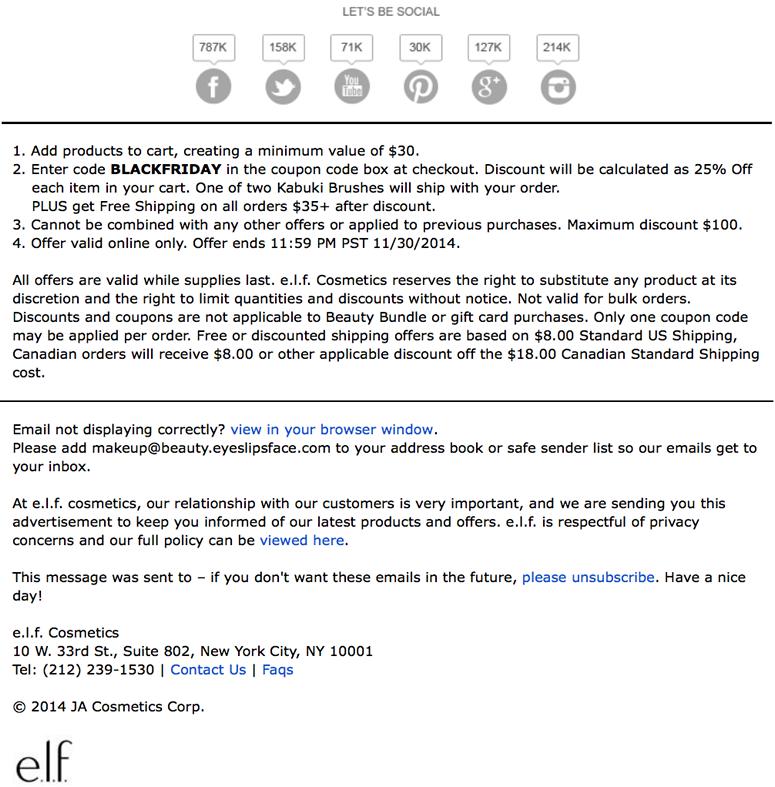 elf cosmetics black friday ad scan page 2 - e.l.f. Cosmetics Black Friday 2019