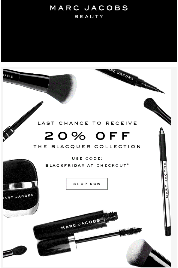 Marc Jacobs Beauty Black Friday 2017 1 - Marc Jacobs Beauty Black Friday 2020