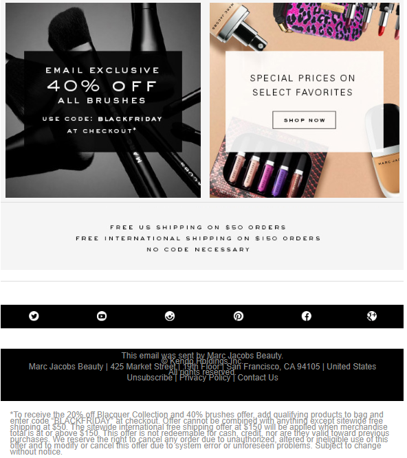 Marc Jacobs Beauty Black Friday 2017 2 - Marc Jacobs Beauty Black Friday 2020
