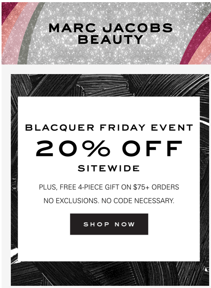 Marc Jacobs Beauty black friday sale 2019 1 - Marc Jacobs Beauty Black Friday 2020
