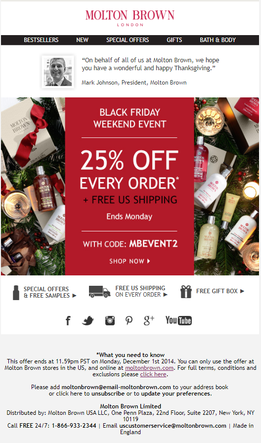 Molton Brown Black Friday 2014 - Molton Brown Black Friday 2019