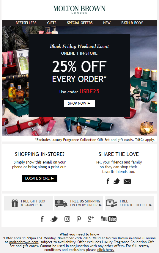Molton Brown Black Friday 2016 - Molton Brown Black Friday 2019
