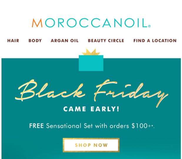 Moroccanoil Black Friday 2017 1 - Moroccanoil Black Friday 2019