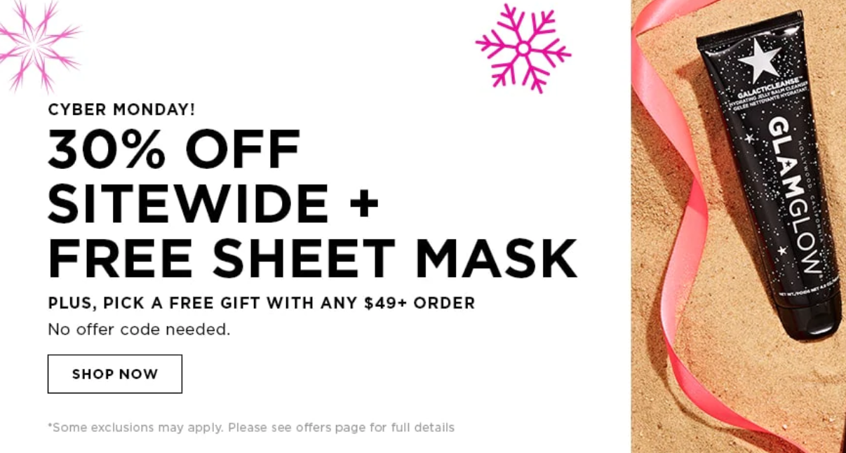 GLAMGLOW Cyber Monday - The Best Cyber Monday 2019 Beauty Deals
