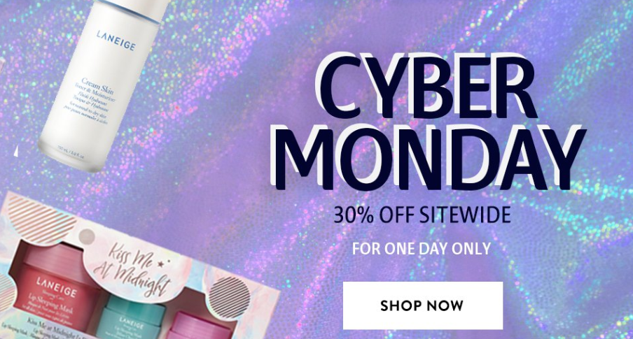 LANEIGE Cyber Monday - The Best Cyber Monday 2019 Beauty Deals