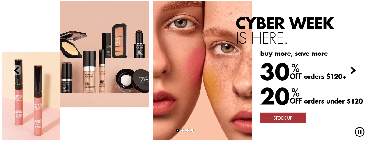 MAKE UP FOR EVER Cyber Monday - The Best Cyber Monday 2019 Beauty Deals