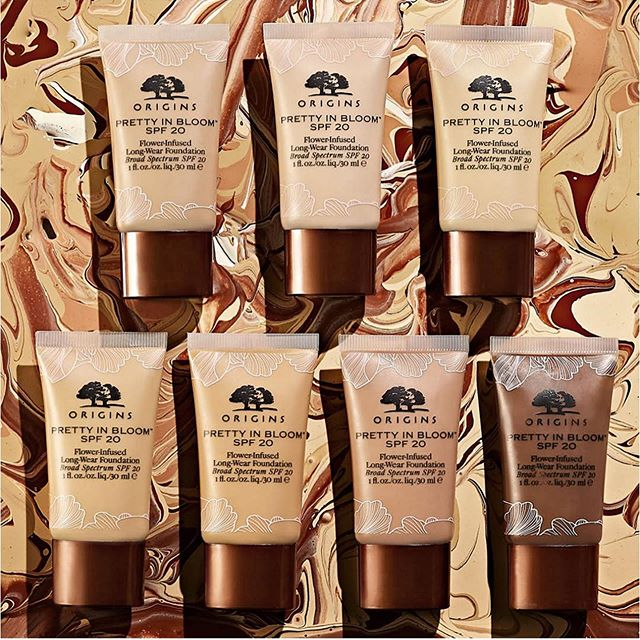 ORIGINS PRETTY IN BLOOM FLOWER INFUSED LONG WEAR FOUNDATION 2 - ORIGINS PRETTY IN BLOOM FLOWER-INFUSED LONG-WEAR FOUNDATION