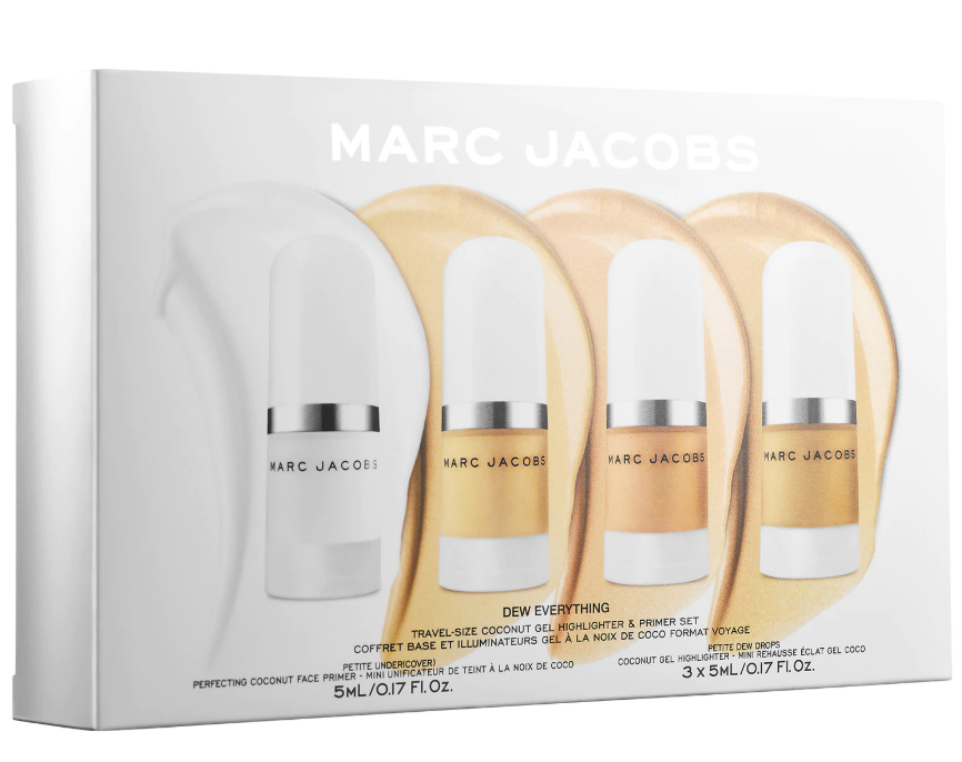 MARC JACOBS BEAUTY DEW EVERYTHING MINI COCONUT GEL HIGHLIGHTER AND PRIMER SET 3 - MARC JACOBS BEAUTY DEW EVERYTHING MINI COCONUT GEL HIGHLIGHTER AND PRIMER SET
