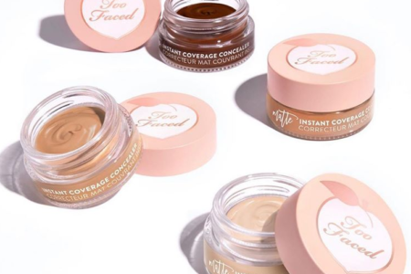 TOO FACED PEACH PERFECT INSTANT COVERAGE MATTE CONCEALER FOR FLAWLESS SKIN 1 450x300 - TOO FACED PEACH PERFECT INSTANT COVERAGE MATTE CONCEALER FOR FLAWLESS SKIN