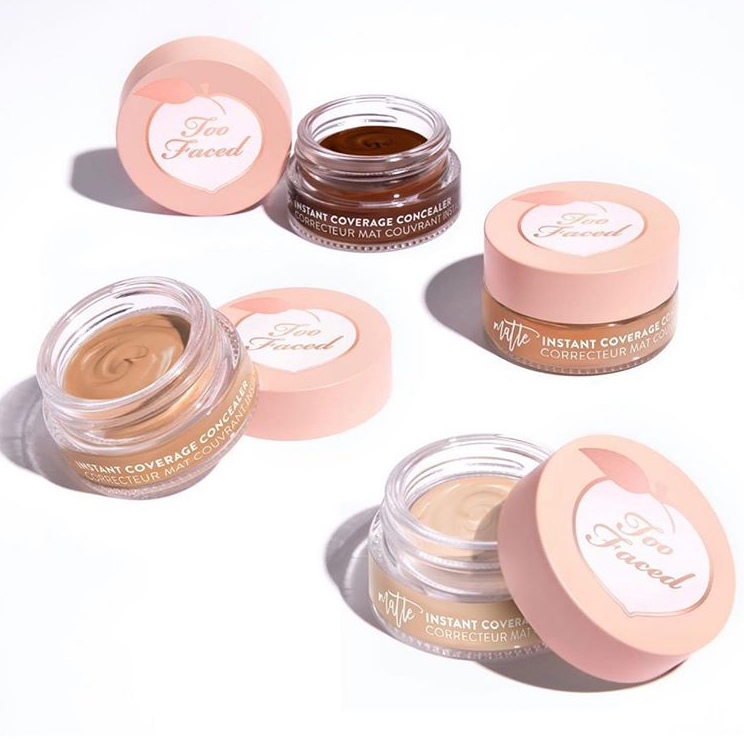 TOO FACED PEACH PERFECT INSTANT COVERAGE MATTE CONCEALER FOR FLAWLESS SKIN 1 - TOO FACED PEACH PERFECT INSTANT COVERAGE MATTE CONCEALER FOR FLAWLESS SKIN