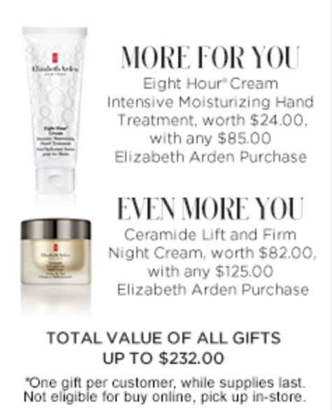 Elizabeth Arden Gift with Purchase 3 - Elizabeth Arden gift with purchase
