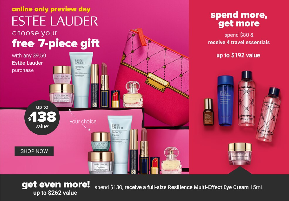 Estee Lauder gift with purchase 5 1 - Estee Lauder gift with purchase  March 2020 schedule