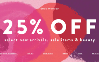 Saks Fifth Avenue 25 off Select Items Sale Saks OFF 5TH Up to 68 offSelected Beauty Sale Are In progress 1 320x200 - Saks Fifth Avenue 25% off Select Items Sale & Saks OFF 5TH Up to 68% offSelected Beauty Sale Are In progress
