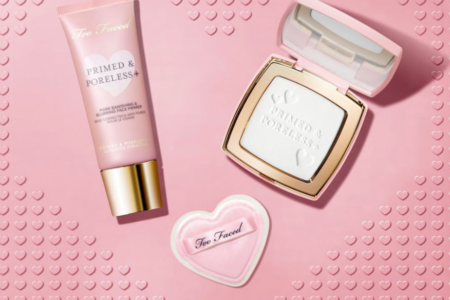 TOO FACED PRIMED PORELESS FACE POWDER AND FACE PRIME WITH ADVANCED FORMULA 450x300 - TOO FACED PRIMED & PORELESS FACE POWDER AND FACE PRIME WITH ADVANCED FORMULA