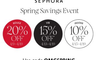 Sephoras Spring Savings Event Is Here 320x200 - Sephora Beauty Insider Holiday Savings Event