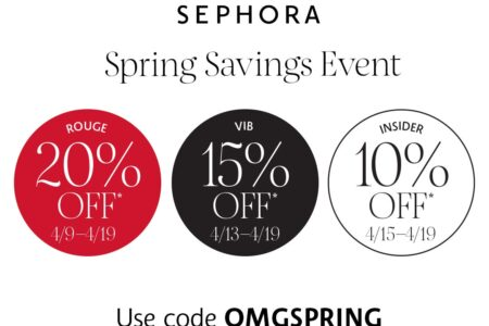 Sephoras Spring Savings Event Is Here 450x300 - Sephora Beauty Insider Holiday Savings Event