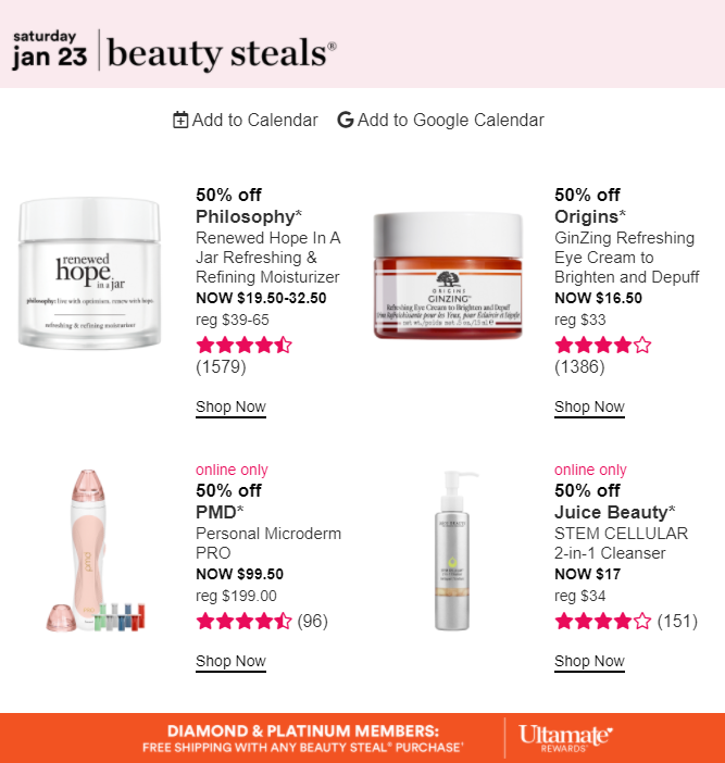 ULTA love your skin day 23 - Ulta Beauty Sales Calendar 2021