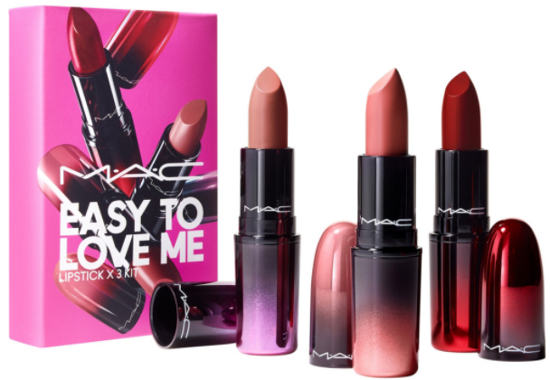 Easy To Love Me Lipstick x3 Kit - MAC Easy To Love Me Lipstick x3 Kit